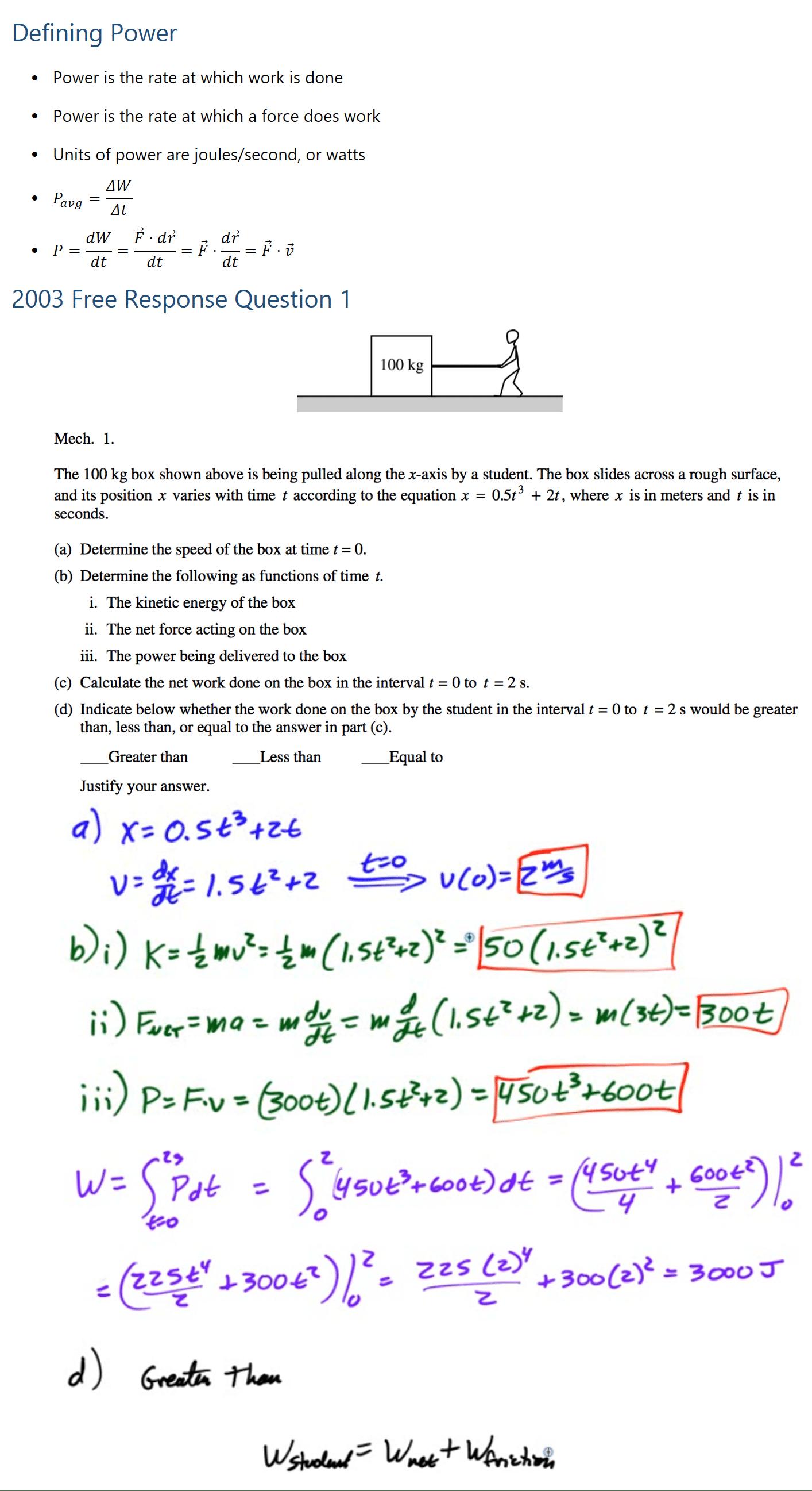 21+ 2003 Ap Physics C Free Response  Pics
