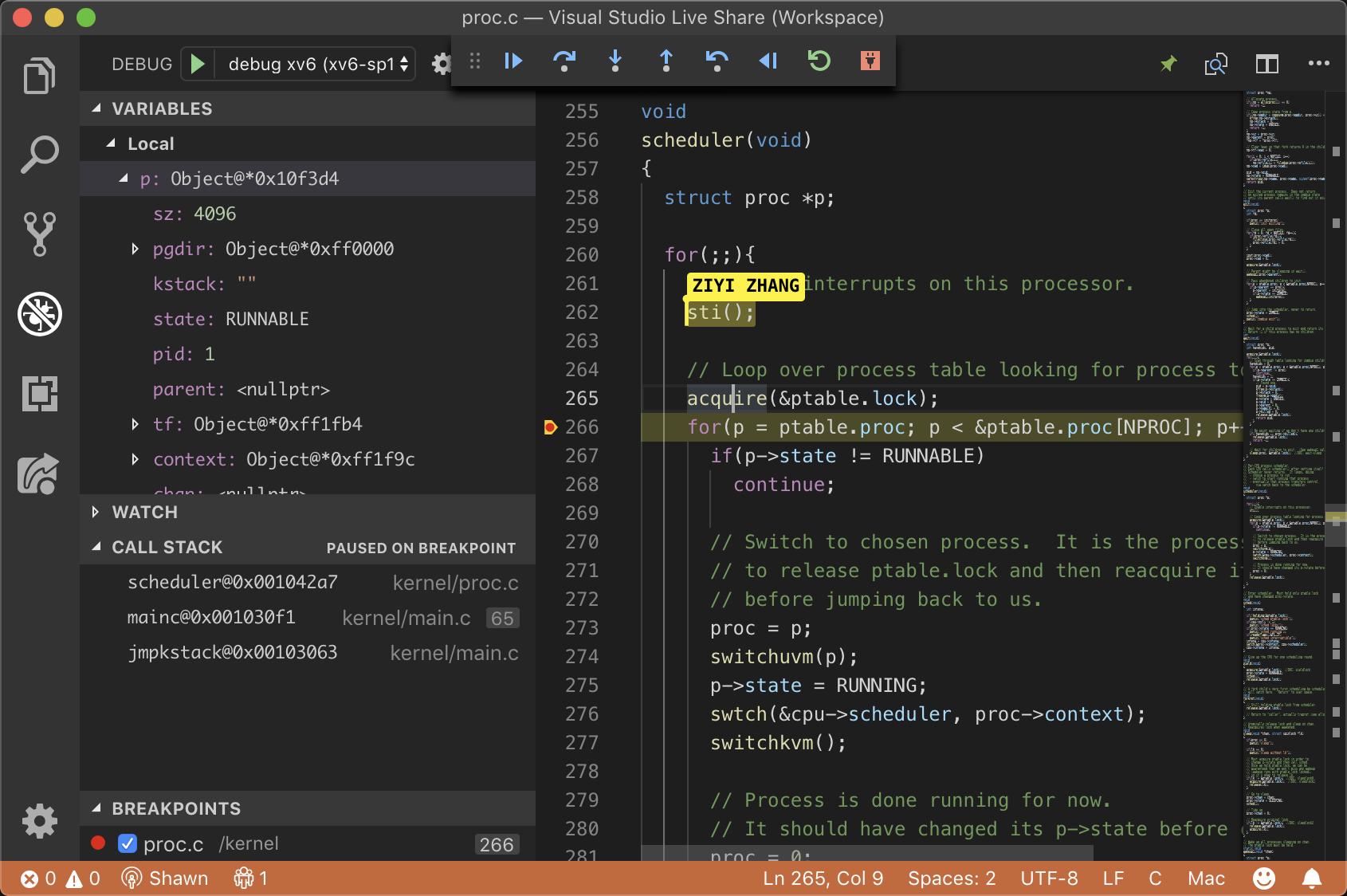 Co-debug xv6 on Windows using VSCode   Shawn Zhong - 钟万祥