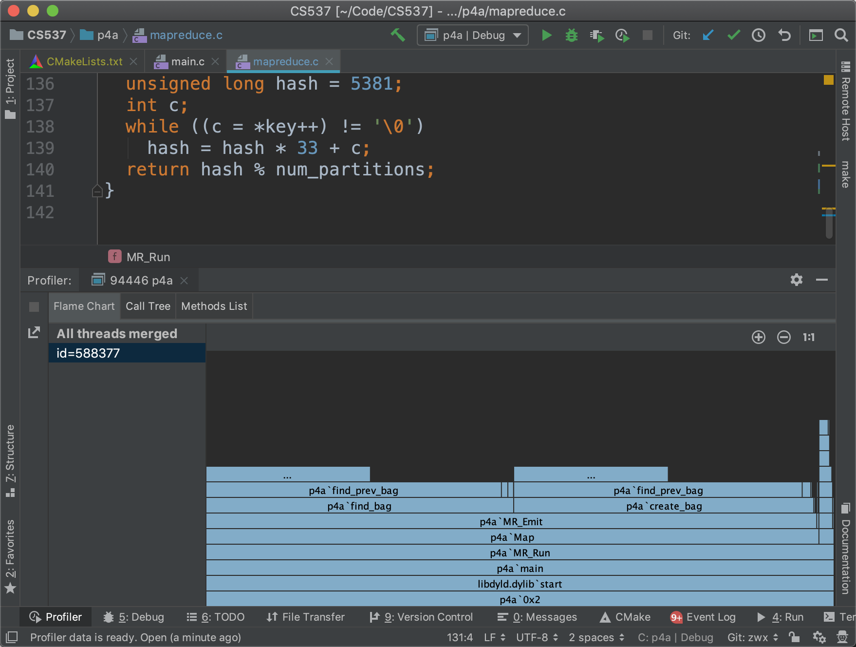 Analyze Execution Time with CLion | Shawn Zhong - 钟万祥